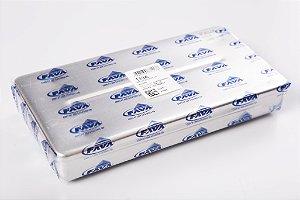 Estojo Alumínio 20x10x03cm sem repartição, marca Fava, modelo 113 A - Alumínio