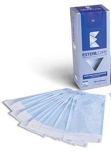 Envelope Auto Selante para esterilização de instrumentos,  9x25cm  200un. Marca EsterilCare
