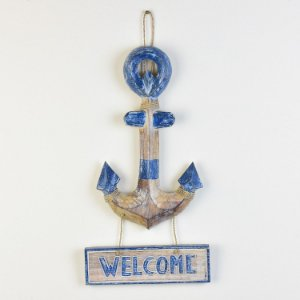 Enfeite Âncora Azul Welcome