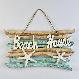Enfeite Rústico Beach House Turquesa