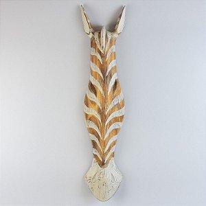 Enfeite Máscara Zebra Branca 78 cm
