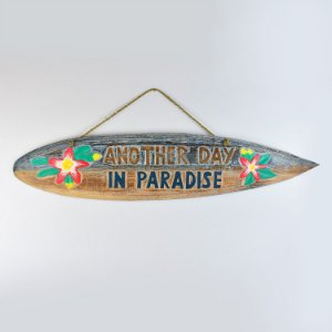 Placa Another Day in Paradise Azul