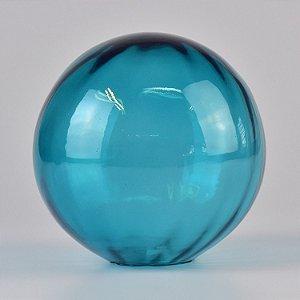 Enfeite Bola Canelada Aqua
