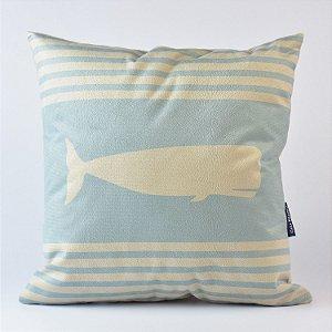 Almofada Náutica Baleia Azul Claro