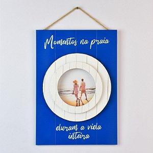 Porta Retrato Momentos na Praia Azul