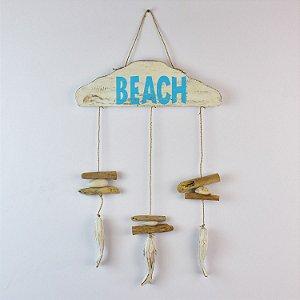 Enfeite de Parede Beach com Conchas