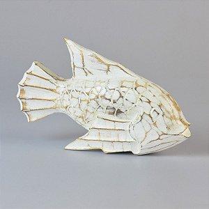 Enfeite Peixe Branco Grande