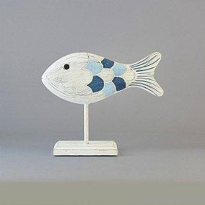 Enfeite Peixe Branco Médio