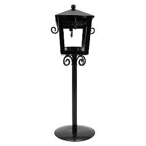 Luminária Porta Velas Decorativa Preta