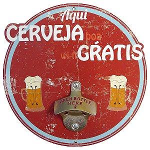 Abridor de Garrafa Cerveja Wifi Grátis