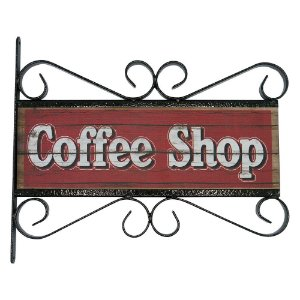 Placa Vintage Aramado Coffee Shop