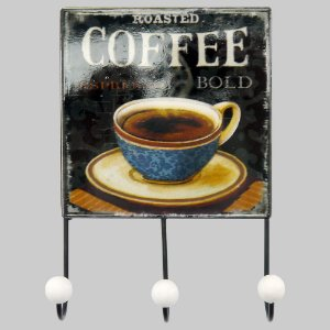 Cabideiro de Parede Vintage Café