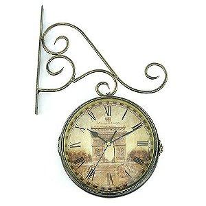Relógio de Parede Vintage Estação Paris