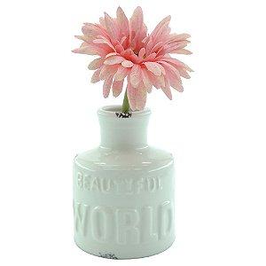 Vaso de Cerâmica Beautiful World Branco