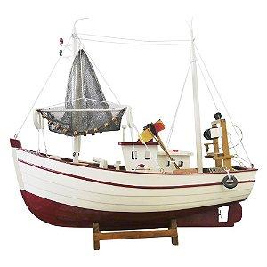 Barco Miniatura de Madeira Pesqueiro