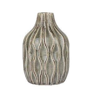 Vaso de Cerâmica Bottle Cinza