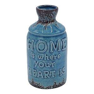 Vaso de Cerâmica Rústico Garden Azul