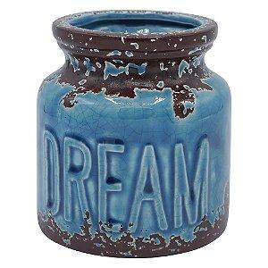 Vaso de Cerâmica Rustic Dream Azul