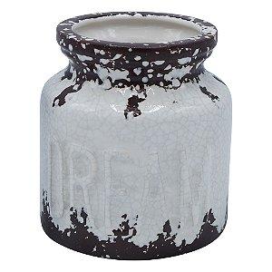 Vaso de Cerâmica Rustic Dream Branco