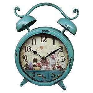 Relógio de Mesa Azul Vintage