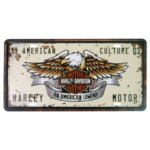 Placa decorativa de Metal Águia Harley