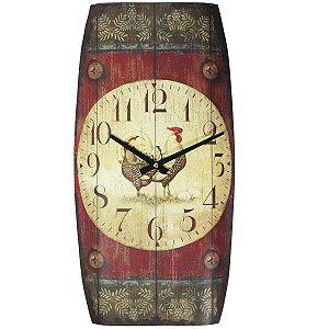 Relógio de Parede Vintage Galo
