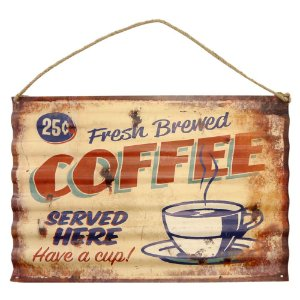 Placa de Metal Fresh Brew Coffee