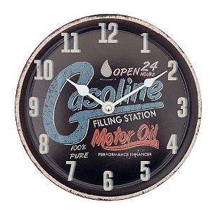 Relógio de Parede Gasoline Oil Preto