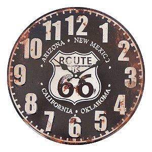 Relógio de Parede de Metal Route 40cm