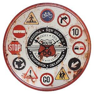 Relógio de Parede Route 66 de Metal