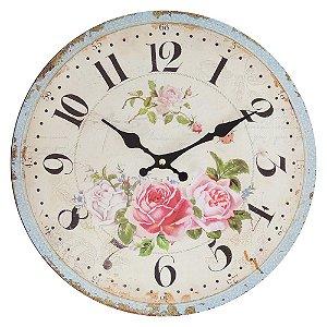 Relógio de Parede Rosas