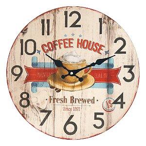 Relógio de Parede Vintage Coffee House