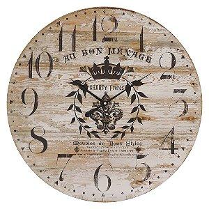 Relógio de Parede Rústico Wood