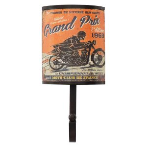 Cabideiro de Parede Rústico Moto Club
