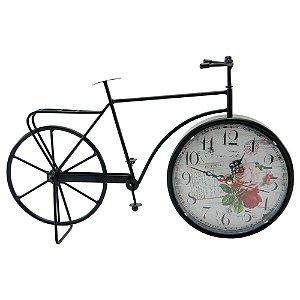 Relógio Vintage Flowers Bicicleta