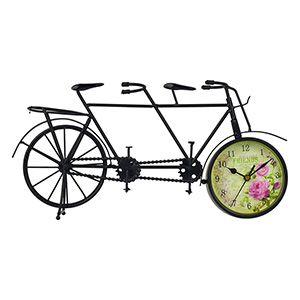 Relógio Bicicleta Dupla Vintage