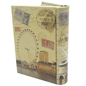 Lata Porta-Objeto Livro Londres
