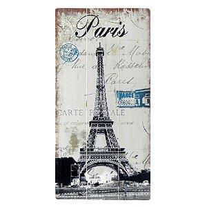 Placa de Madeira Torre Eiffel Paris