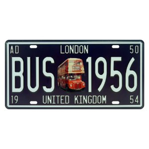Placa decorativa de Metal Bus London
