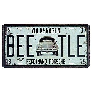 Placa decorativa de Metal Fusca Beetle