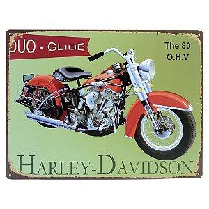 Placa decorativa de Metal Harley Verde