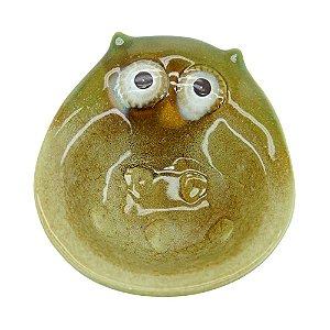 Saboneteira Coruja Verde