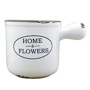 Vaso decorativo de Cerâmica Branco