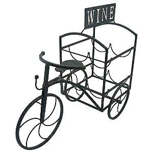 Porta Vinho Rústico Bicicleta