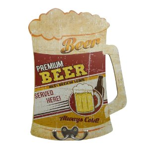 Cabideiro de Parede Premium Beer Served Here