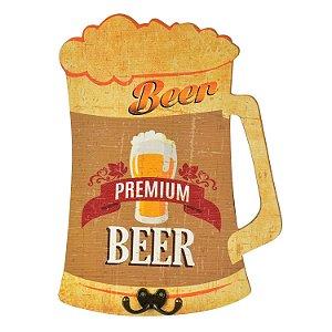 Cabideiro de Parede Beer Premium Amarelo