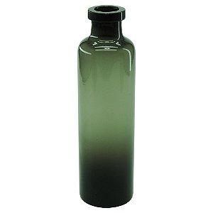 Vaso de Vidro Bottle Fumê Preto
