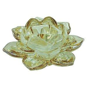 Porta Vela Dourado Lotus