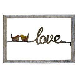 Quadro Decorativo Pássaro Love