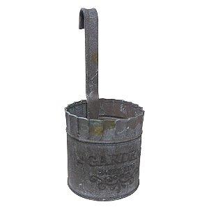Vaso de Parede de Metal Rústico Pequeno